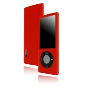 Housse etui coque silicone rouge ipod nano 5 5g film ebay for Housse ipod nano
