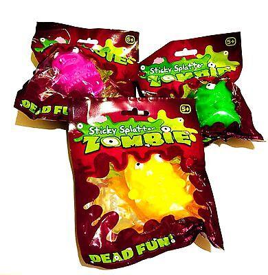 Nouveauté Fun Collant éclaboussures Zombie formes Dead Fun Squeeze Blague Squishy Jouet