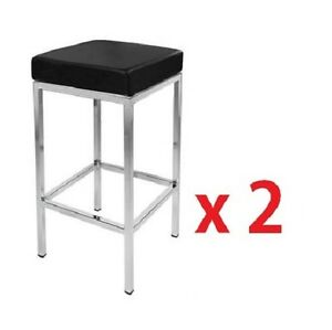 2-X-Brand-New-Vienna-PU-Leather-Bar-Stool-Kitchen-Chair-White-Postage-Free