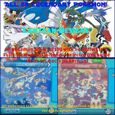 All 56 Shiny Legendary Pokemon with Perfect Stats! Moon, Sun, Alpha & Omega X-Y