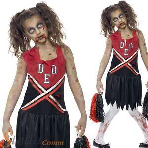 Girls zombie cheerleader costume high school halloween fancy dress image is loading girls zombie cheerleader costume high school halloween fancy solutioingenieria Gallery