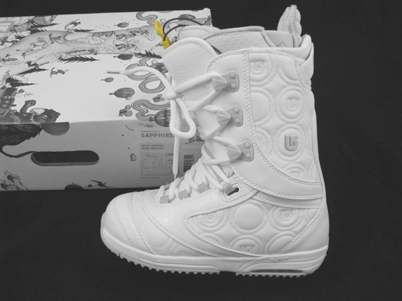 NEW Burton Sapphire Snowboard Boots  US 4 Euro 34 Mondo 21  White
