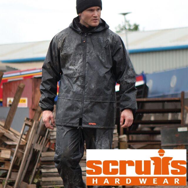 5e7b5016d5d23 Rain Jacket   Waterproof Trousers 2 Piece Suit Scruffs Workwear Motorbike  LARGE