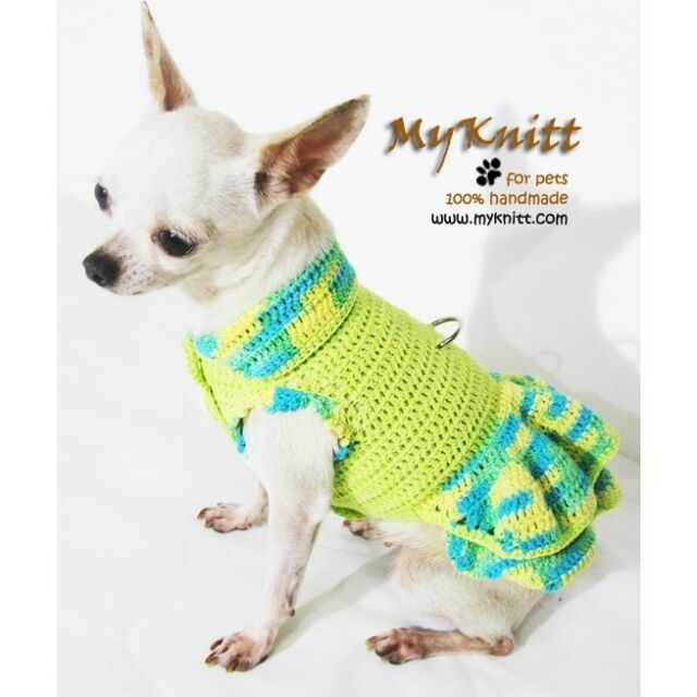 Spring Summer Pet Dog Clothing Clothes Floral Harness Dress Skirt ...