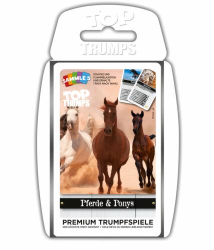 Top Trumps Pferde & Ponys Quartettspiel Kartenspiel Quartett Karten Spiel Ponies