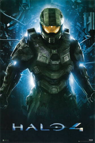 Halo 4 Master Chief 24x36 Poster Spartan 117 343 Industries Xbox Video Game Art