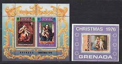 61 **, Grenada 1970/76 Weihnachten Block 12 24805
