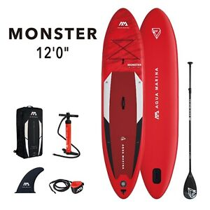 Aqua Marina Monster Stand Up Paddle Board Inflatable SUP w/ Paddle I-SUP