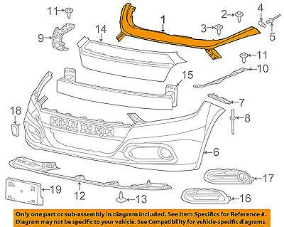Dodge CHRYSLER OEM Dart Radiator Support Grille-Upper Panel Cover 1WC26TZZAC