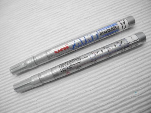 mark anything 2 X UNI-BALL PAINT PX-21 0.8-1.2mm oil based marker Sliver VIETNAM