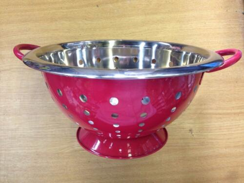Red Stainless Steel Colander