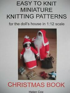 CHRISTMAS-MINIATURE-KNITTING-PATTERNS-for-the-dolls-house-1-12-scale-by-Helen-Co