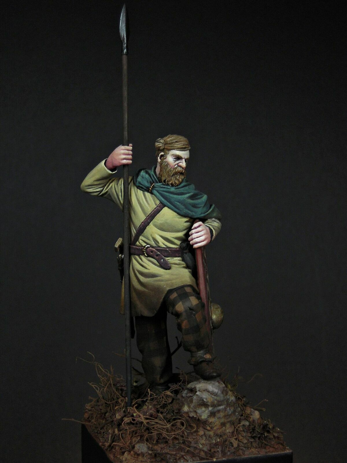 SK Miniatures Germanic Warrior Teutoberg 75mm Unpainted resin kit Mike Blank