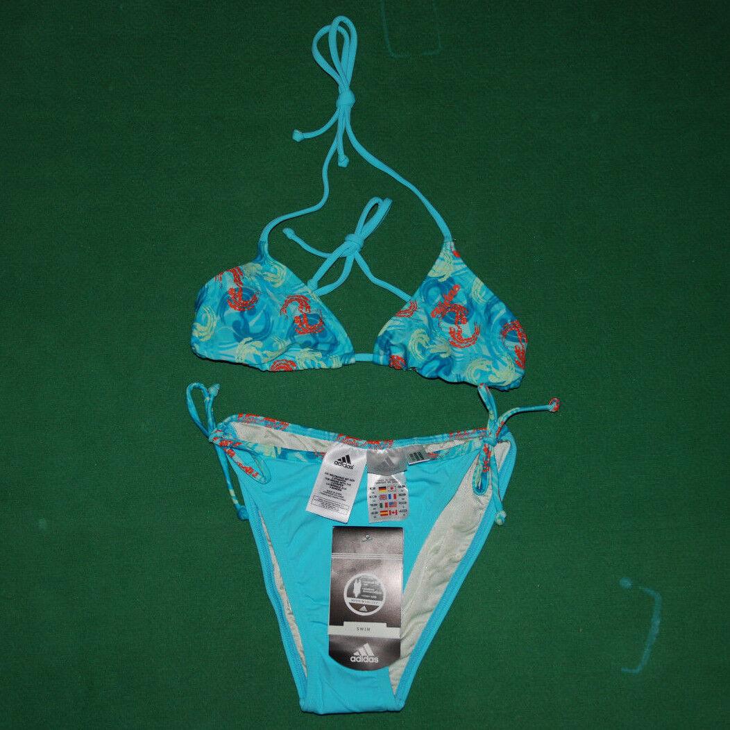 Vintage Adidas Equipment bikini sea Swim wear Suit BNWT NOS bikini red lycra