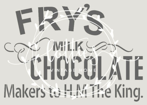 A4 STENCIL FRY/'S CHOCOLATE Furniture Easter 190 MYLAR 01 VINTAGE ADVERTISING