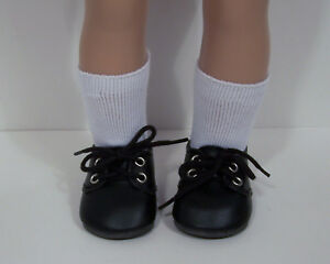 42379b91ef03c Details about BLACK Dress Up or Casual Doll Shoes For 18