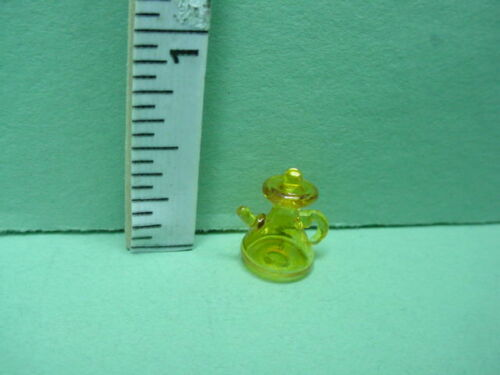 "1:24 Scale #HB307 Dollhouse Miniature Pitcher Amber Transparent Glass 1//2/"""