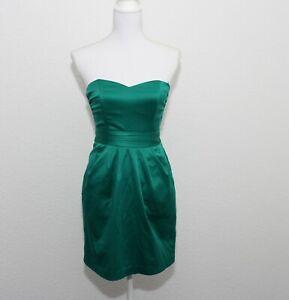 H M Kleid Gr S M 34 36 Grun Turkis Glanzend Neuwertig Ebay