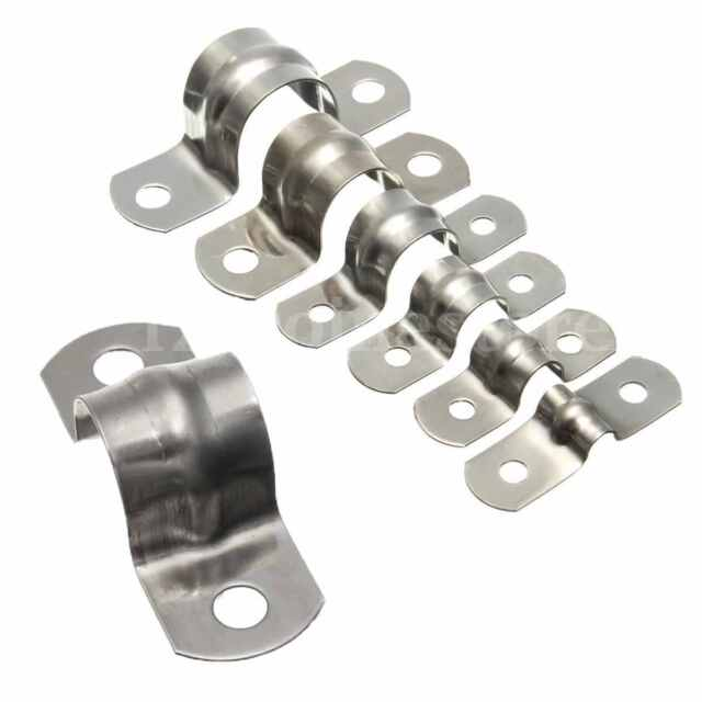 5//10//20Pcs Stainless Steel Plumbing Fitting Pipe Saddle Clip Bracket All Sizes