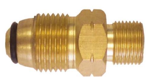 "GM004 - LPG GAS CYLINDER ADPATOR POL-3/8"" BSP LH STRAIGHT"