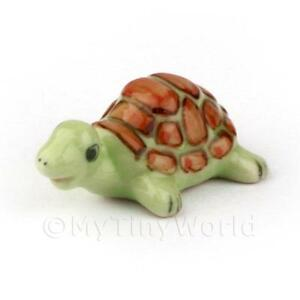 Dolls-House-Miniature-Handmade-Green-Tortoise