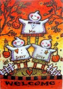 Trio-of-Ghosts-Garden-Flag-by-Toland-12-5-034-x-18-034-2274-Halloween