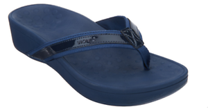 Vionic Marée Haute Bleu Marine Navy Plateforme Confort Sandale Femme Tailles 5-11 NEUF!!!