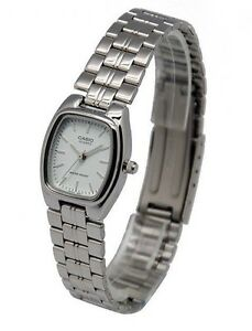 LTP-1169D-7A-Casio-White-tone-Stainless-Steel-Watch-Ladies-Date