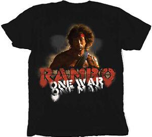 RAMBO-ONE-WAR-ONE-MAN-Stallone-T-SHIRT-XXL