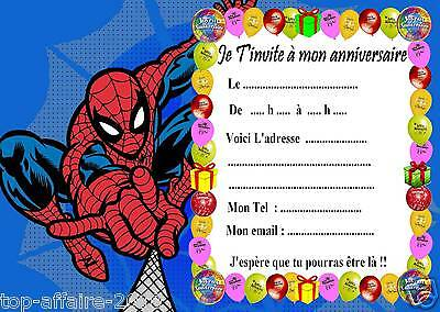 5 Cartes Invitation Anniversaire Spiderman 01 Ebay