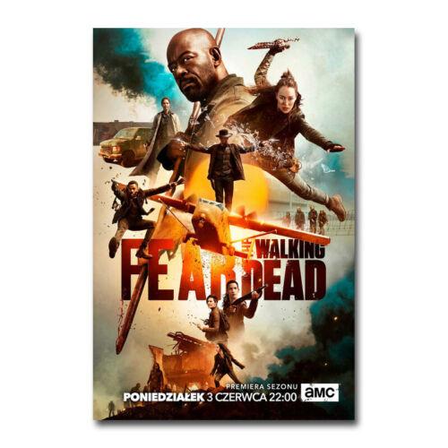 Fear The Walking Dead Season 5 Zombies TV Series Silk Canvas Poster Print 24x36/'