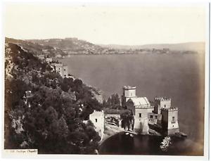 Italie-Naples-Napoli-Posilipo-vista-generale-Vintage-albumen-print-Ti