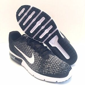 9362a92b6 NIKE AIR MAX Sequent 2 Black Gray White Men s Running Shoe 852465 ...