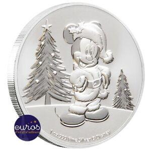 NIUE-2019-2-dollars-NZD-Mickey-Noel-1oz-argent-99-9-Bullion-Disney