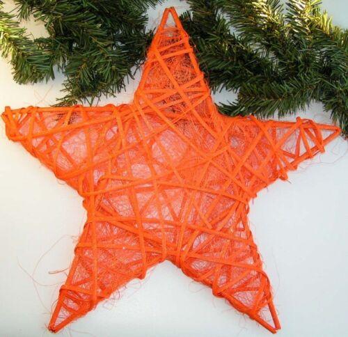 accroche PREISHIT 5145 La vigne étoile avec Sisal Mega de Noël étoile orange 40 cm