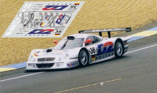 Calcas Mercedes CLK LM Le Mans 1998 35 36 1:32 1:24 1:43 1:18 slot decals