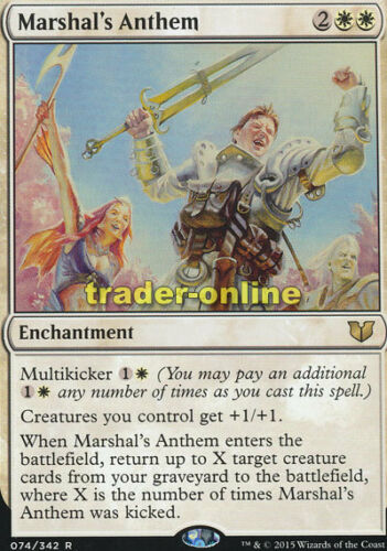 Hymne des Marschalls Marshal/'s Anthem Commander 2015 Magic