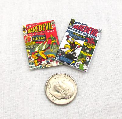 2 Miniature DEADPOOL COMIC BOOKS Dollhouse Miniatures 1:12 Scale Readable Marvel