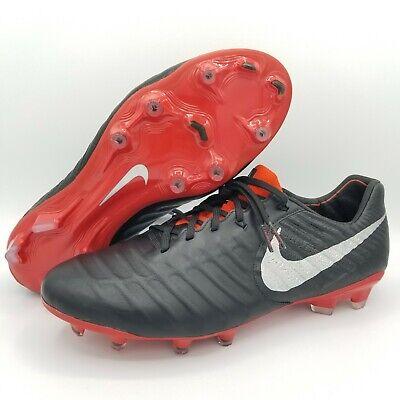 Nike Tiempo Legend 7 Elite FG Black Red Men's Soccer Cleats AH7238 007 Size 8.5 | eBay