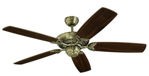 5MS52AB Monte Carlo Mansion 5-Blade Fan w// Antique Brass w// Blades-ID#