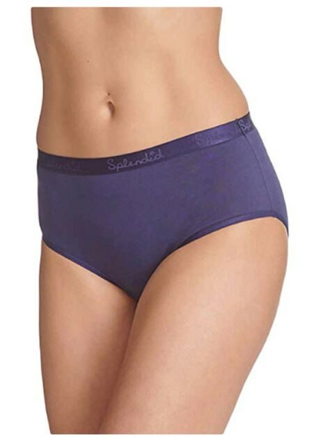 Mid Rise Stretchy Cotton 6 Pack Splendid Super Soft Brief Full Back Coverage