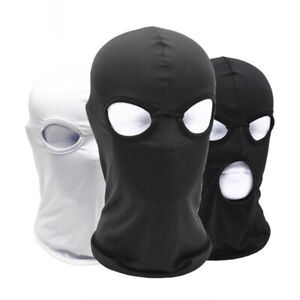 Balaclava Spandex Hood Open Mouth Eyes 2 3 Holes Stretchy Full Face Mask Ebay
