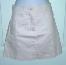 Free valley korean fashion pink faux jean skirt size s w/ pockets maydaytuesday