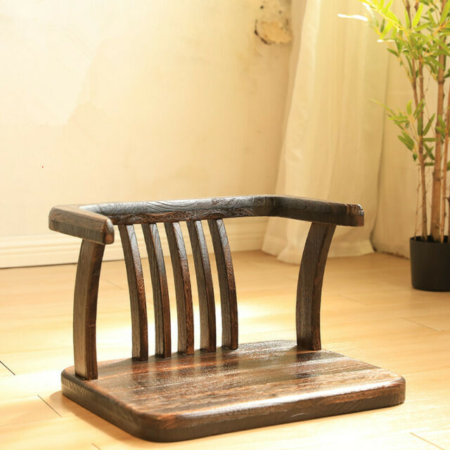 Zaisu Japanese wooden chair folding tatami room chair any ...