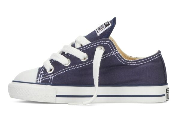 cce62e5b0d7907 Converse Boys   Girls Toddler Navy All Star Ox Trainers Size 2 to 10 ...