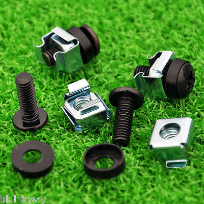 Strong-Willed M6 Screws screw+washer+cage Nut Fixing Mounting Screws For Cabinet 20 Sets/lot