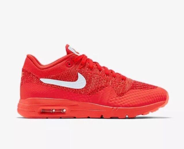 Nike Air Max 1 Ultra Flyknit Sz 12 Crimson Red Women's Running Shoes 843387 601