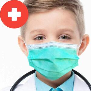 Medizinische Kinder Maske OP Masken 3-lagig Mundschutz Atemschutz  EN14683 BLAU