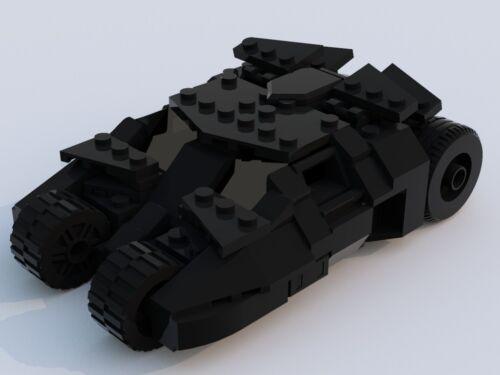 Dark Knight Minifigure Scale Instructions Only Custom Lego Batman Tumbler