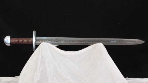 Viking Sword European Sword Damascus 1095 Folded Steel Full Tang Handmade
